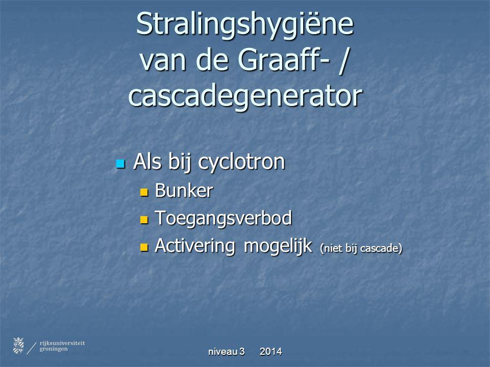Stralingshygiëne van de Graaff- / cascadegenerator