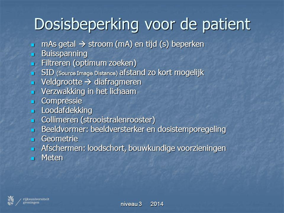 Dosisbeperking voor de patient