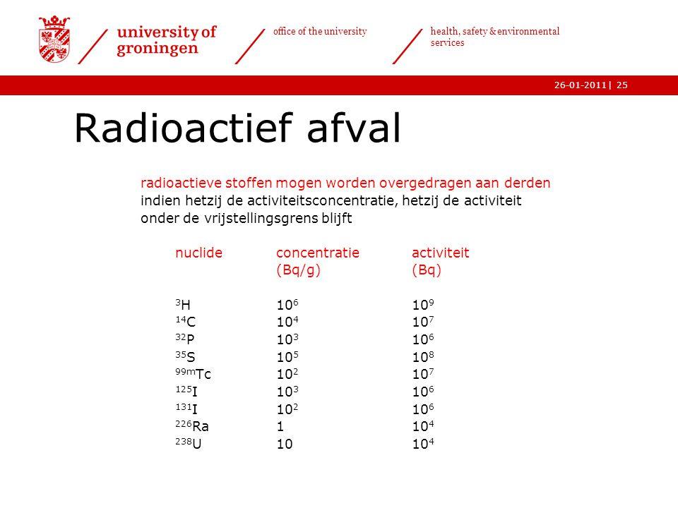 Radioactief afval radioactieve stoffen mogen worden overgedragen aan derden. indien hetzij de activiteitsconcentratie, hetzij de activiteit.