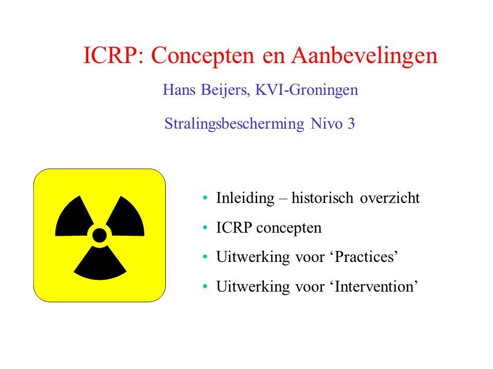 ICRP: Concepten en Aanbevelingen