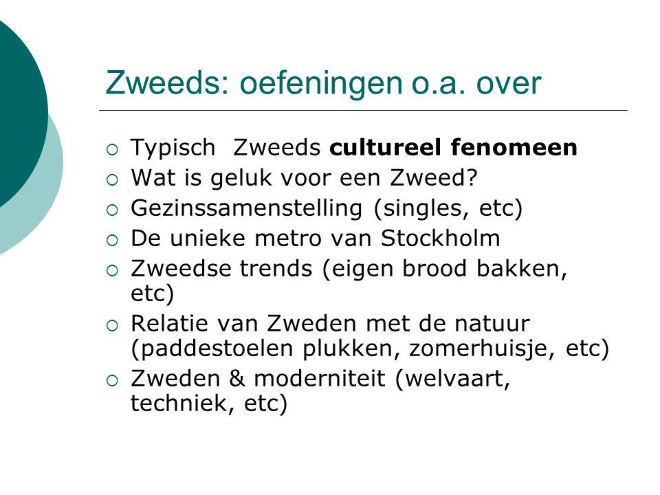 Zweeds: oefeningen o.a. over