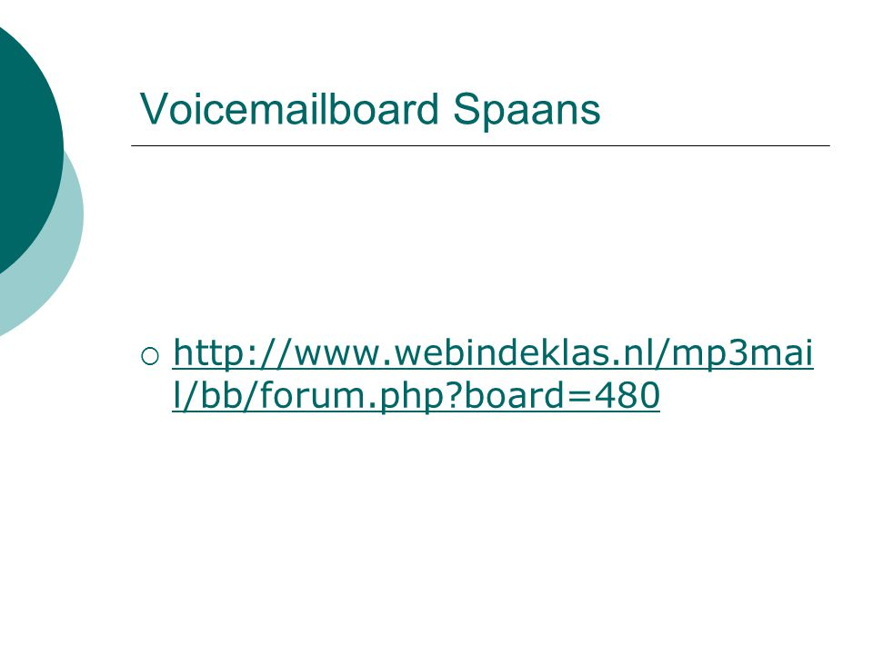 Voicemailboard Spaans