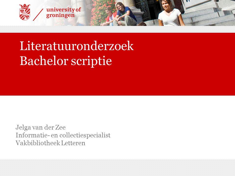 Literatuuronderzoek Bachelor scriptie