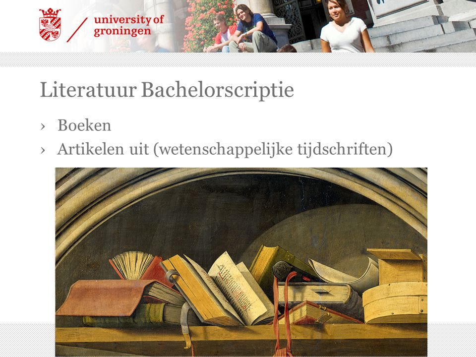 Literatuur Bachelorscriptie
