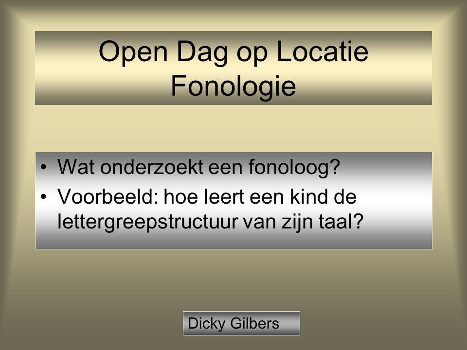 Open Dag op Locatie Fonologie