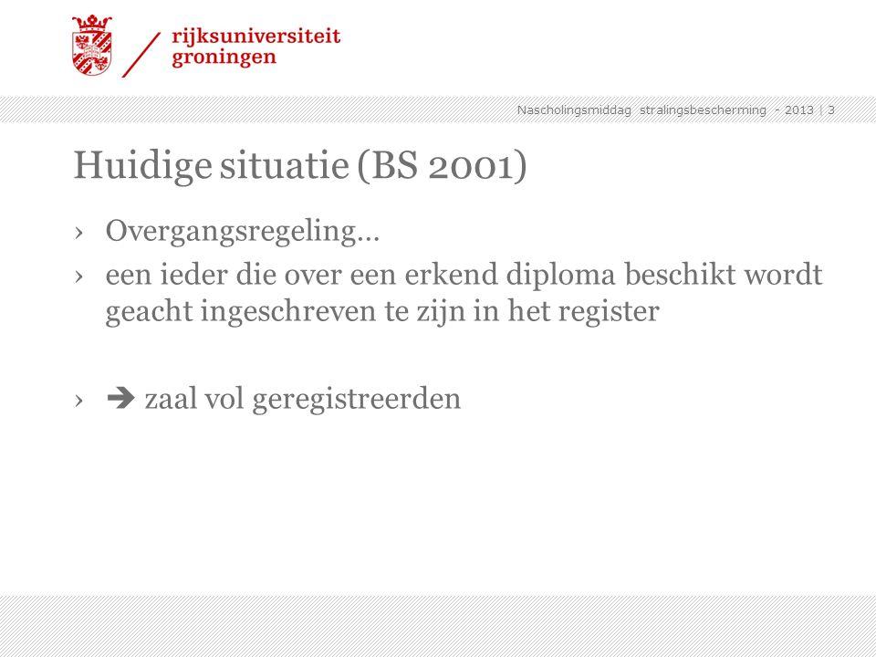 Huidige situatie (BS 2001) Overgangsregeling…