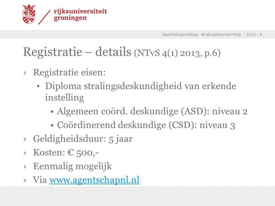 Registratie – details (NTvS 4(1) 2013, p.6)