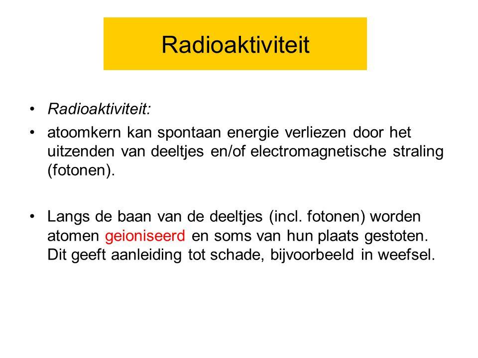 Radioaktiviteit Radioaktiviteit: