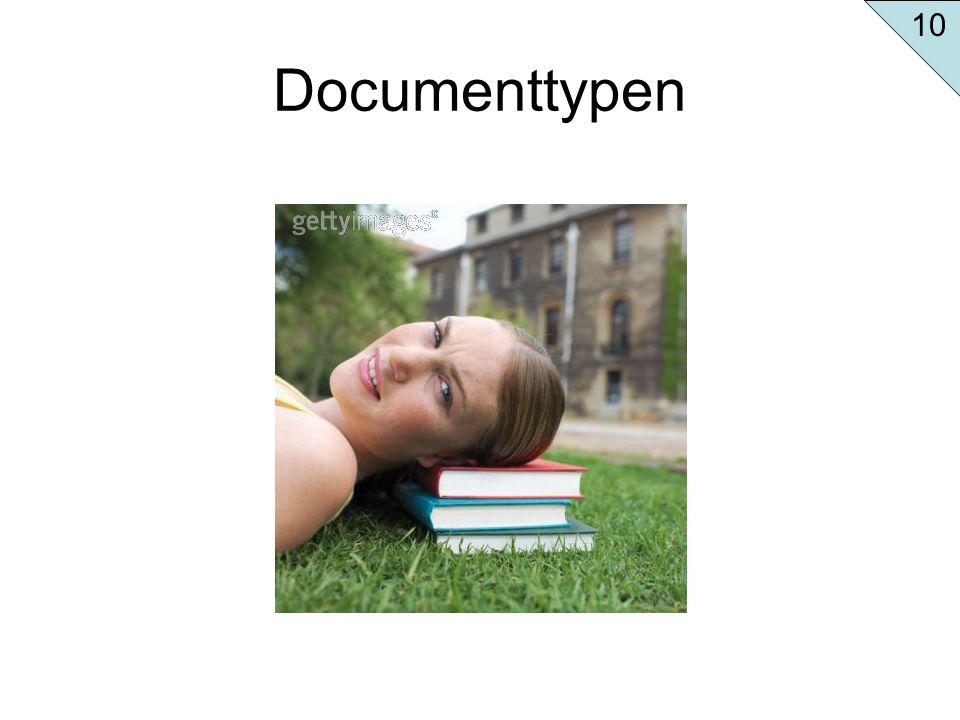 10 Documenttypen