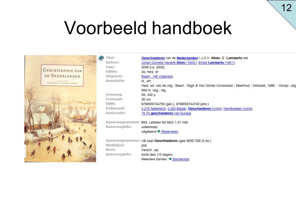 12 Voorbeeld handboek