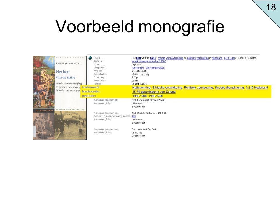 18 Voorbeeld monografie