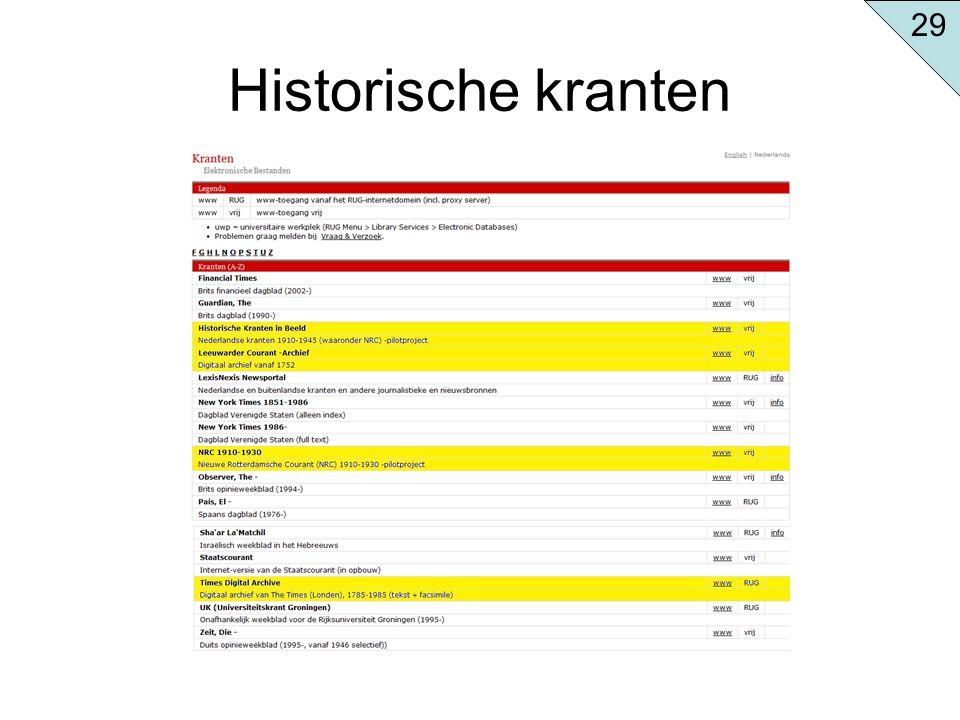 29 Historische kranten
