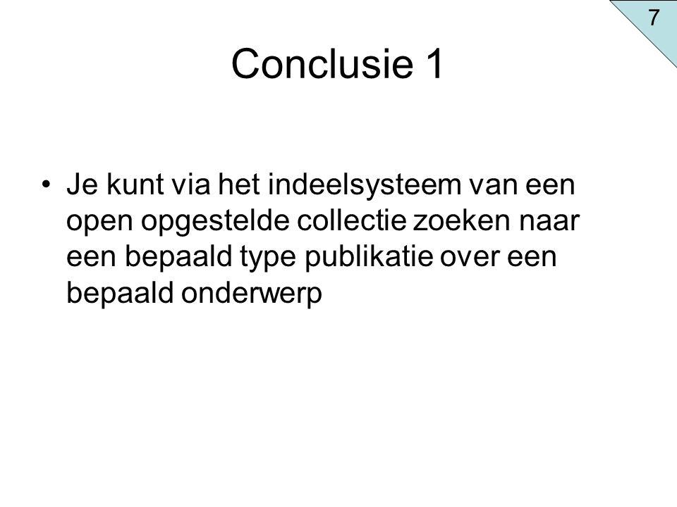 7 Conclusie 1.