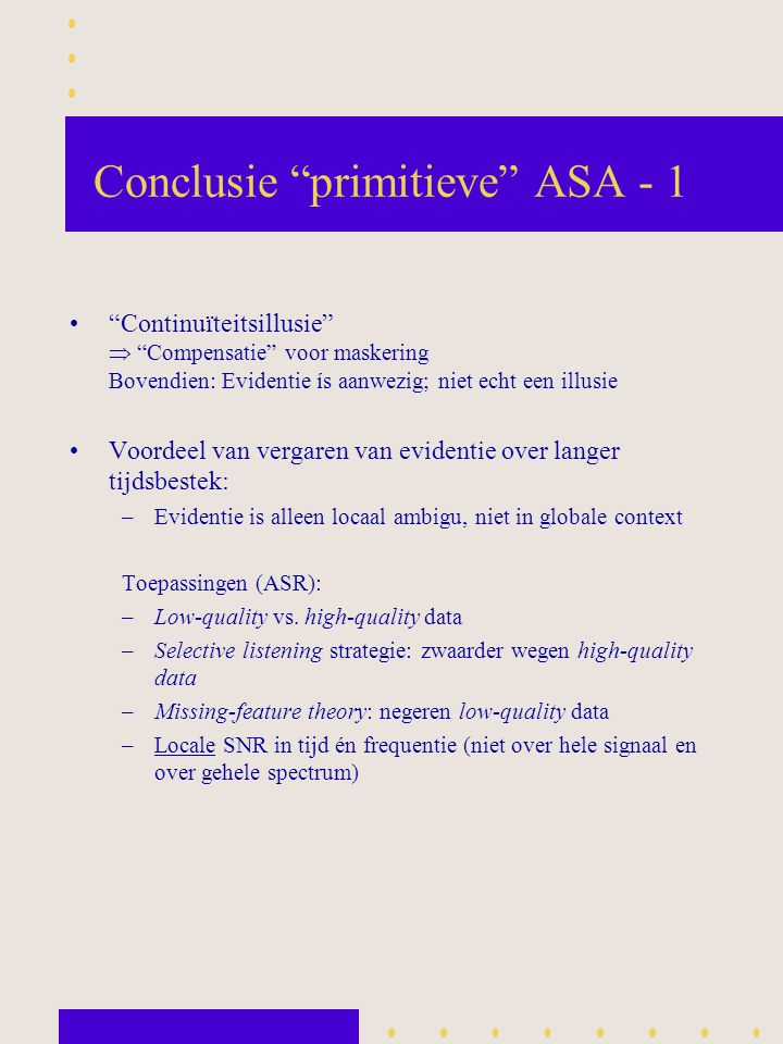 Conclusie primitieve ASA - 1