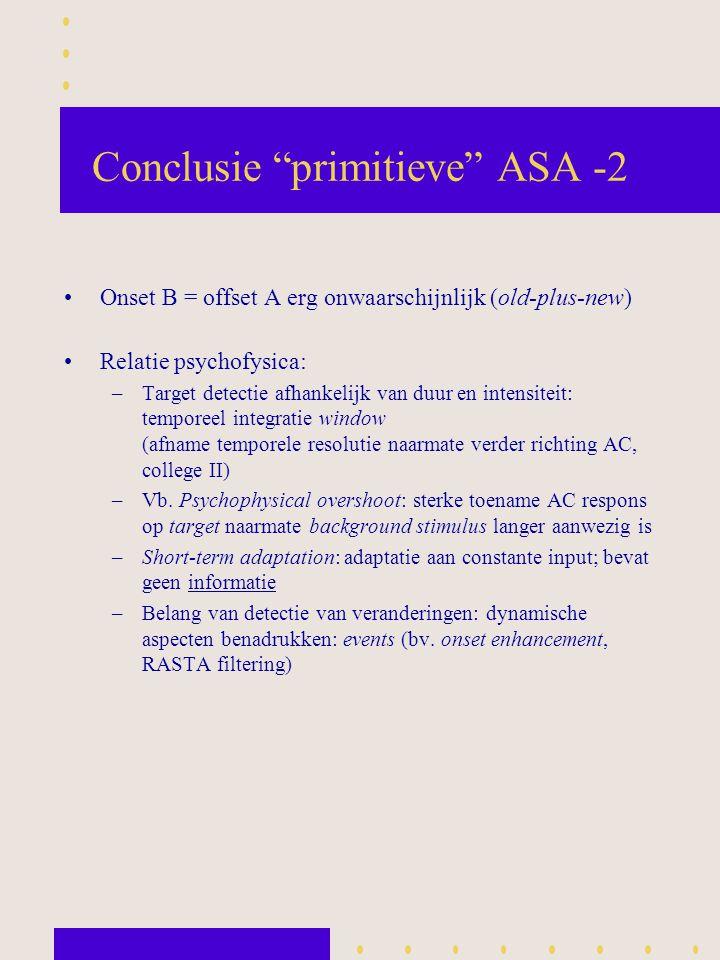 Conclusie primitieve ASA -2