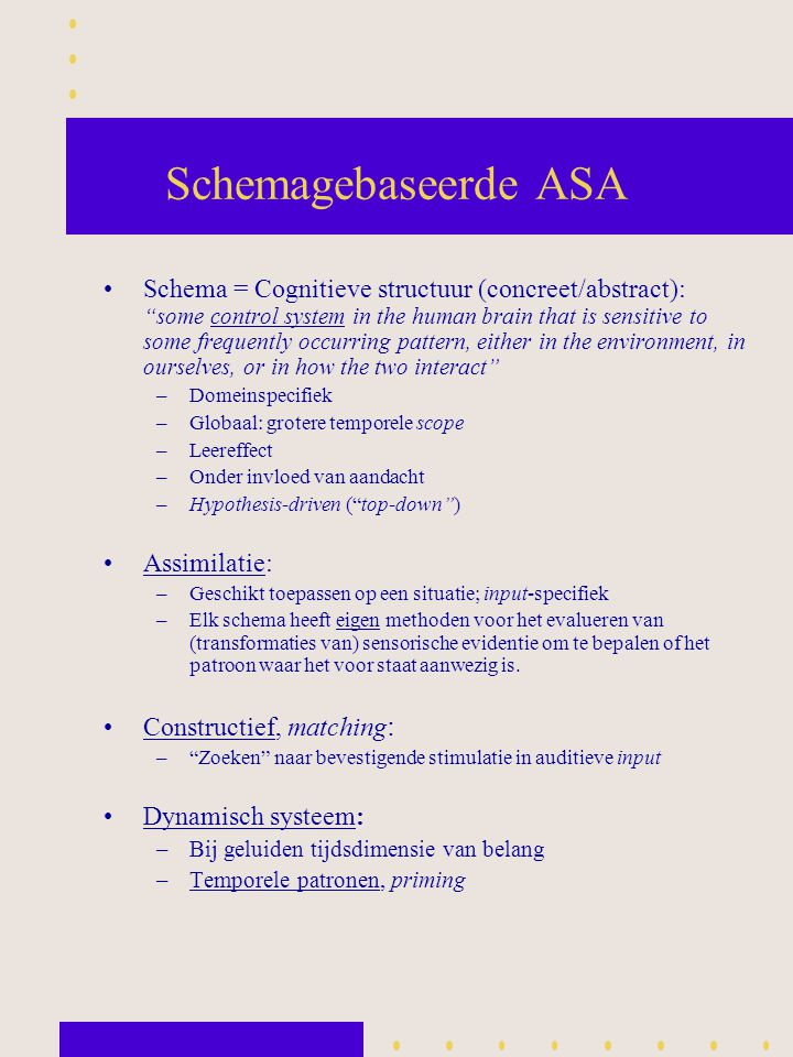 Schemagebaseerde ASA