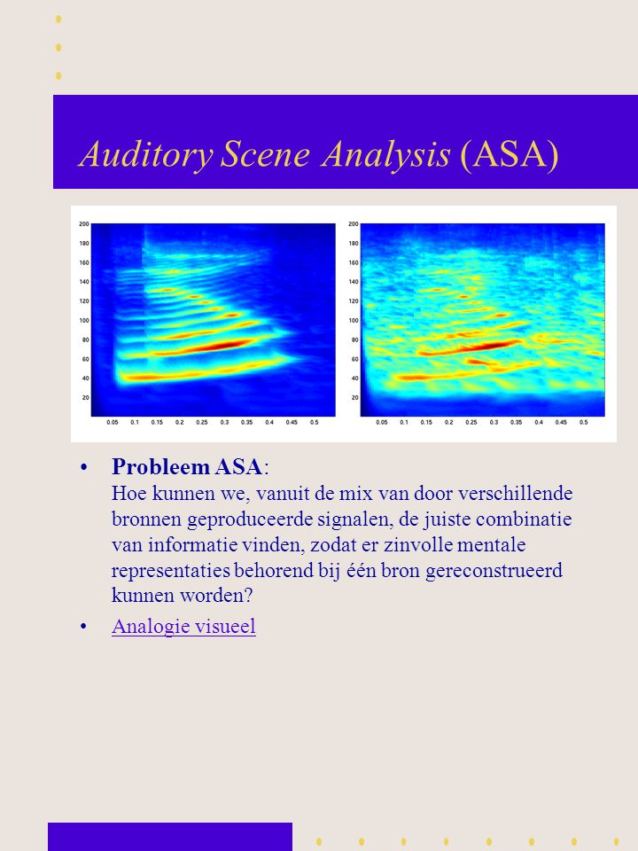 Auditory Scene Analysis (ASA)