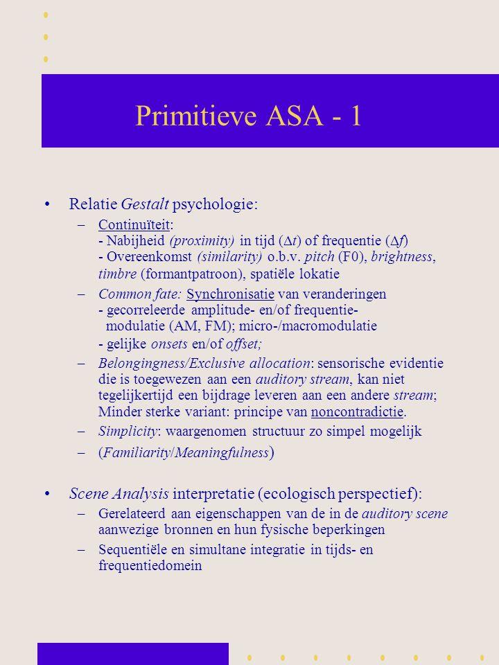 Primitieve ASA - 1 Relatie Gestalt psychologie: