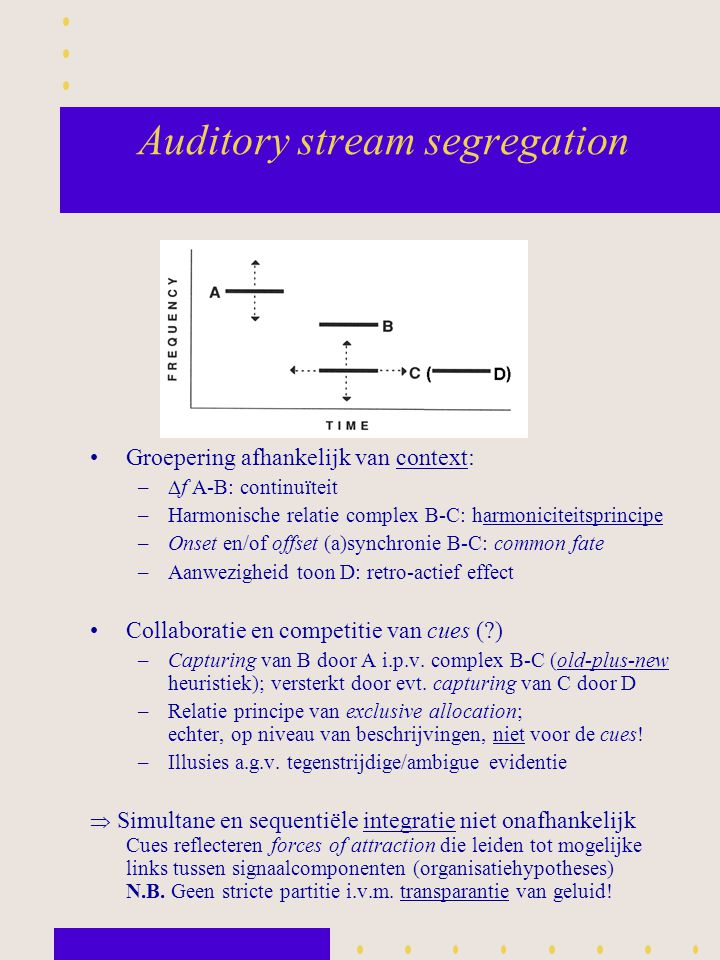 Auditory stream segregation