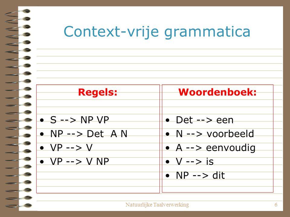 Context-vrije grammatica