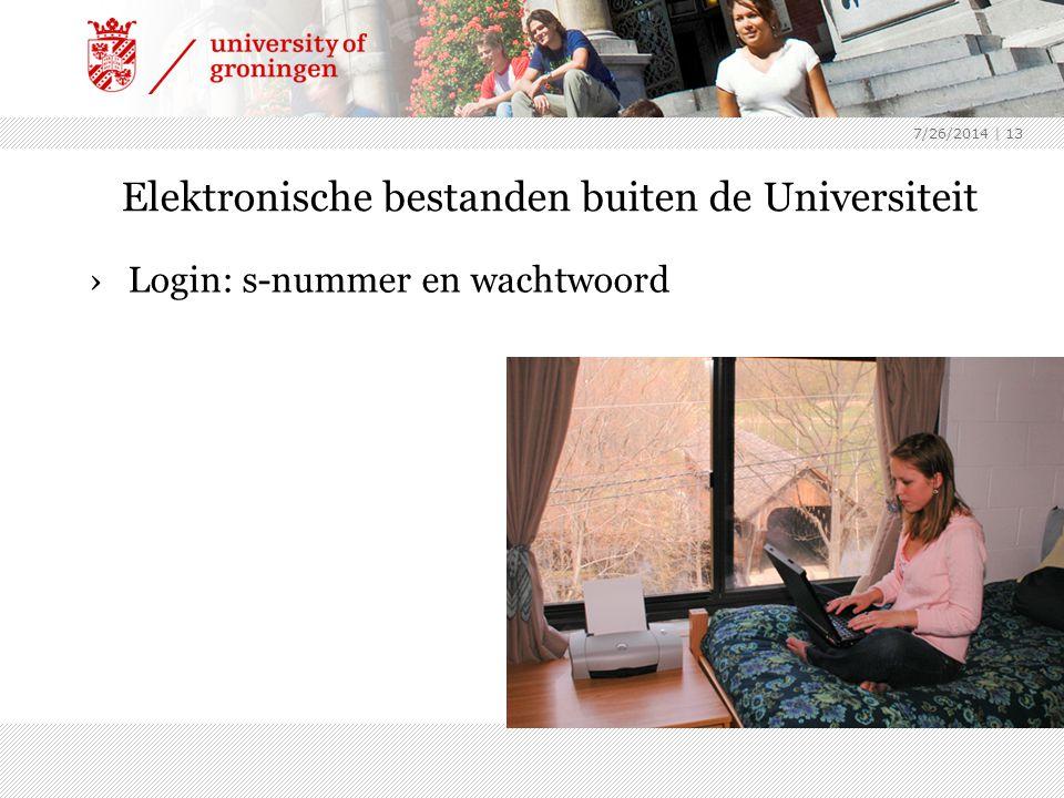 Elektronische bestanden buiten de Universiteit