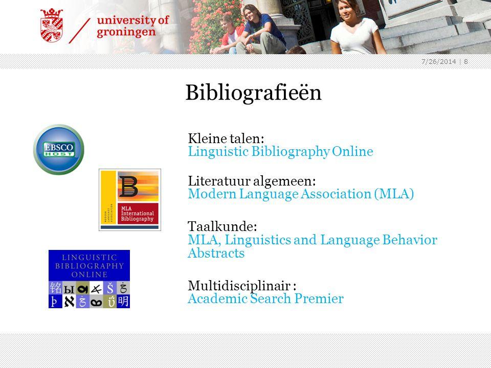 Bibliografieën Literatuur algemeen: Modern Language Association (MLA)