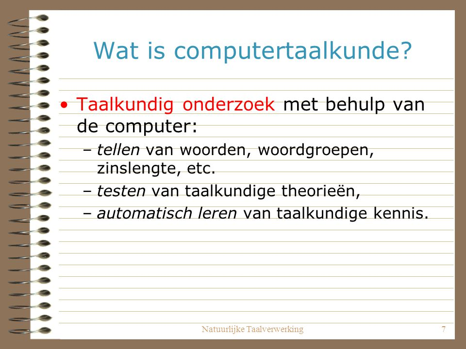 Wat is computertaalkunde