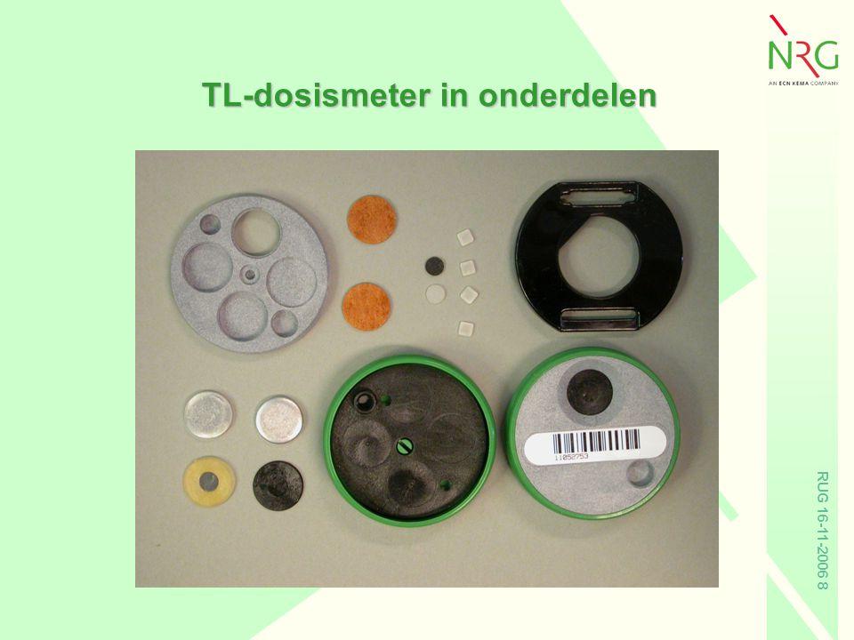 TL-dosismeter in onderdelen