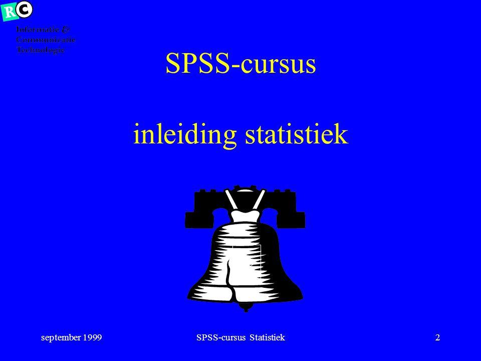 SPSS-cursus inleiding statistiek