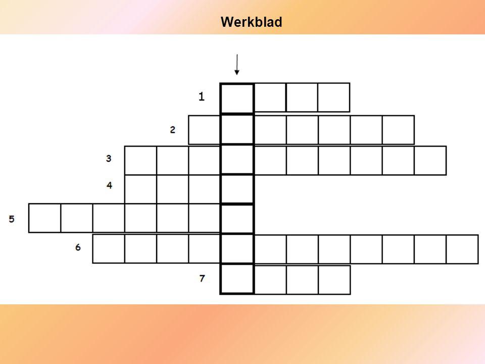 Werkblad Werkblad bij les 6