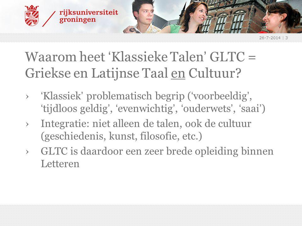 4-4-2017 Waarom heet 'Klassieke Talen' GLTC = Griekse en Latijnse Taal en Cultuur
