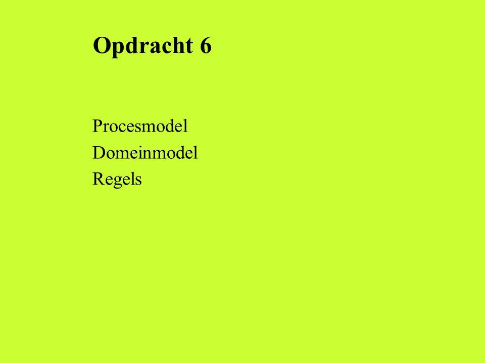 Opdracht 6 Procesmodel Domeinmodel Regels