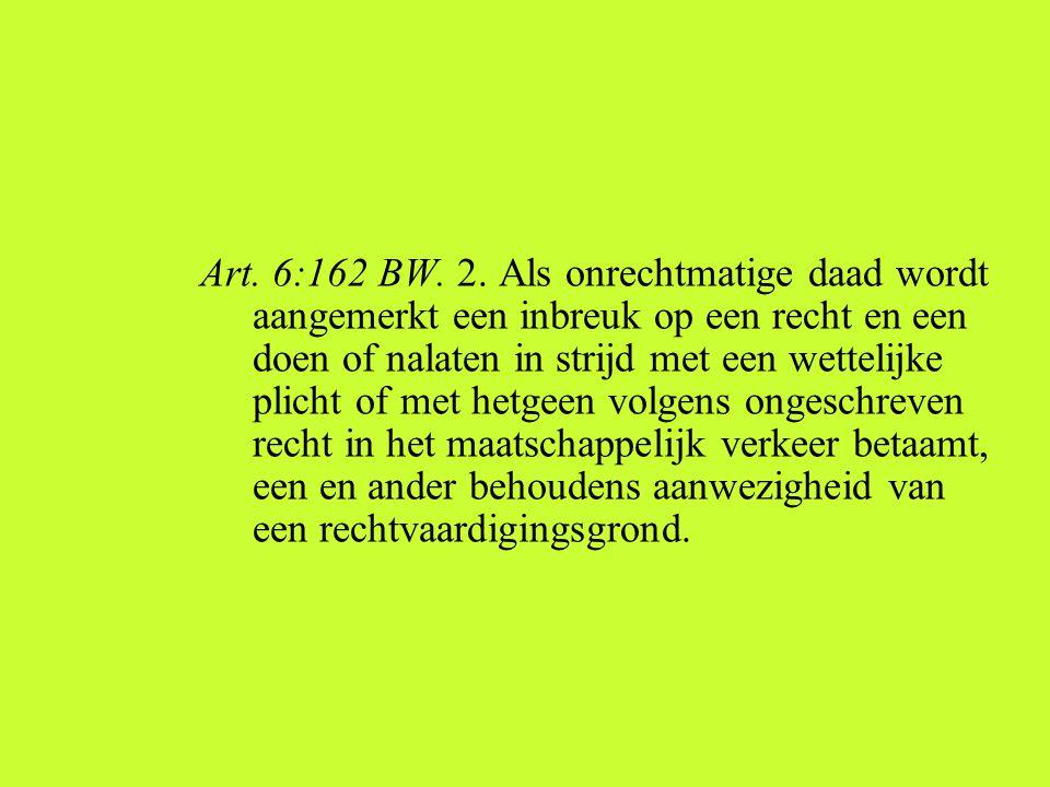 Art. 6:162 BW. 2.