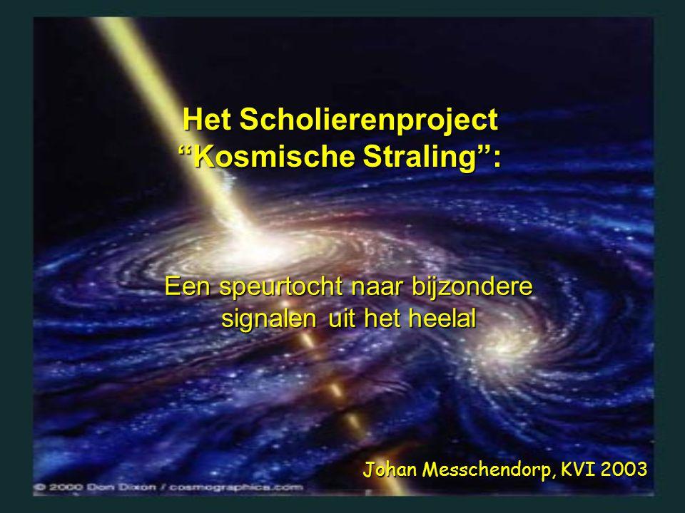 Het Scholierenproject Kosmische Straling :