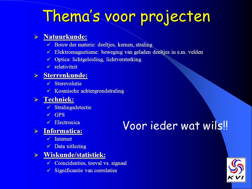 Thema's voor projecten