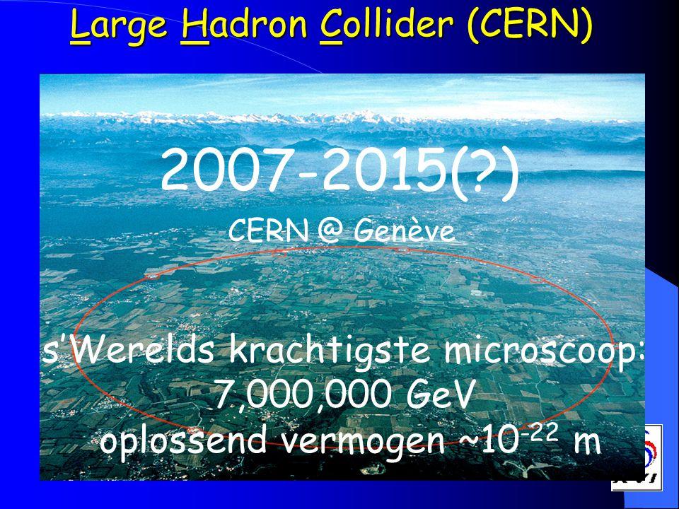 2007-2015( ) Large Hadron Collider (CERN)
