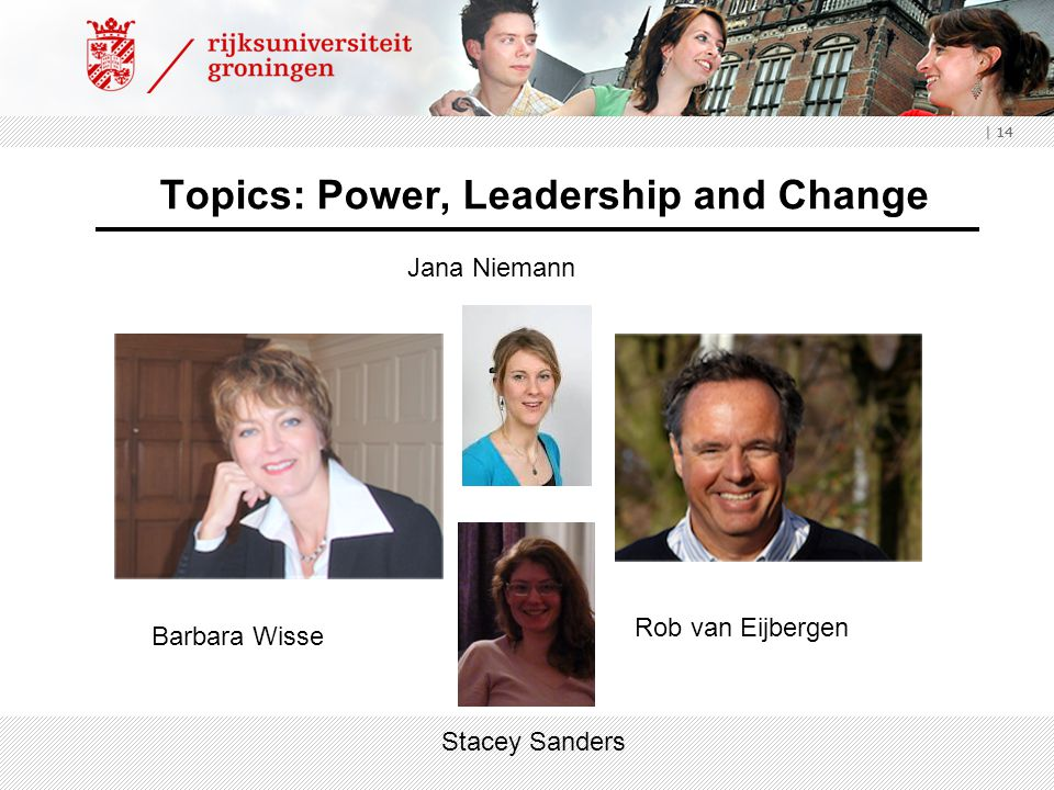 Topics: Power, Leadership and Change