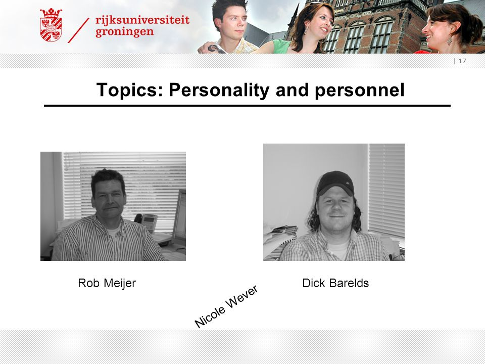 Topics: Personality and personnel
