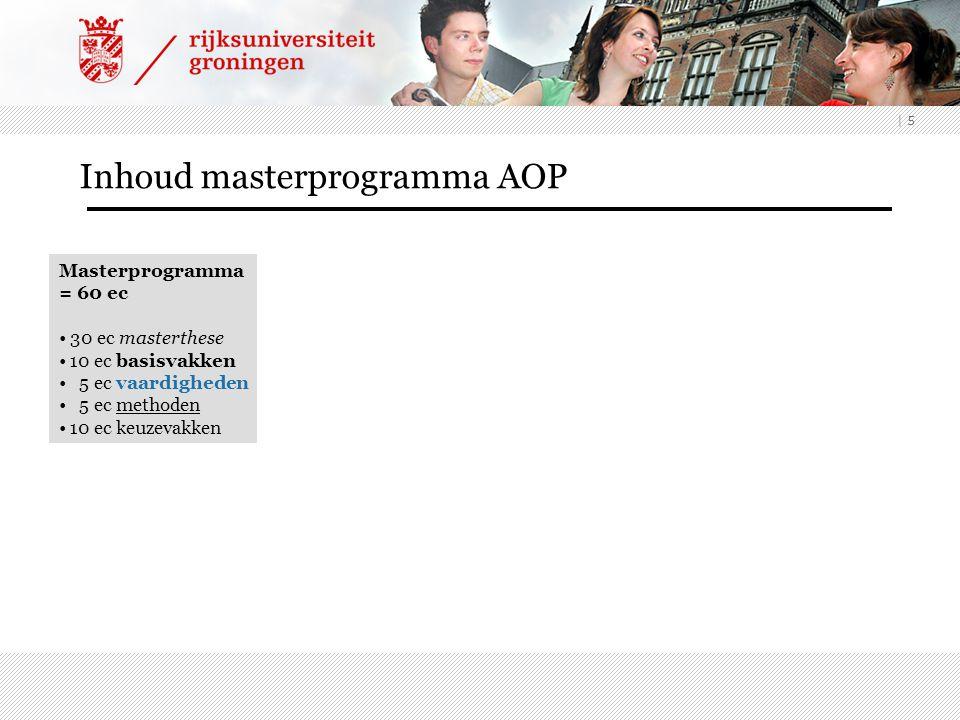 Inhoud masterprogramma AOP