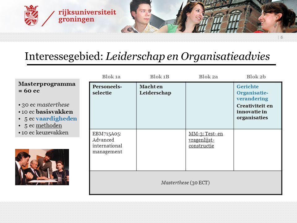 Interessegebied: Leiderschap en Organisatieadvies