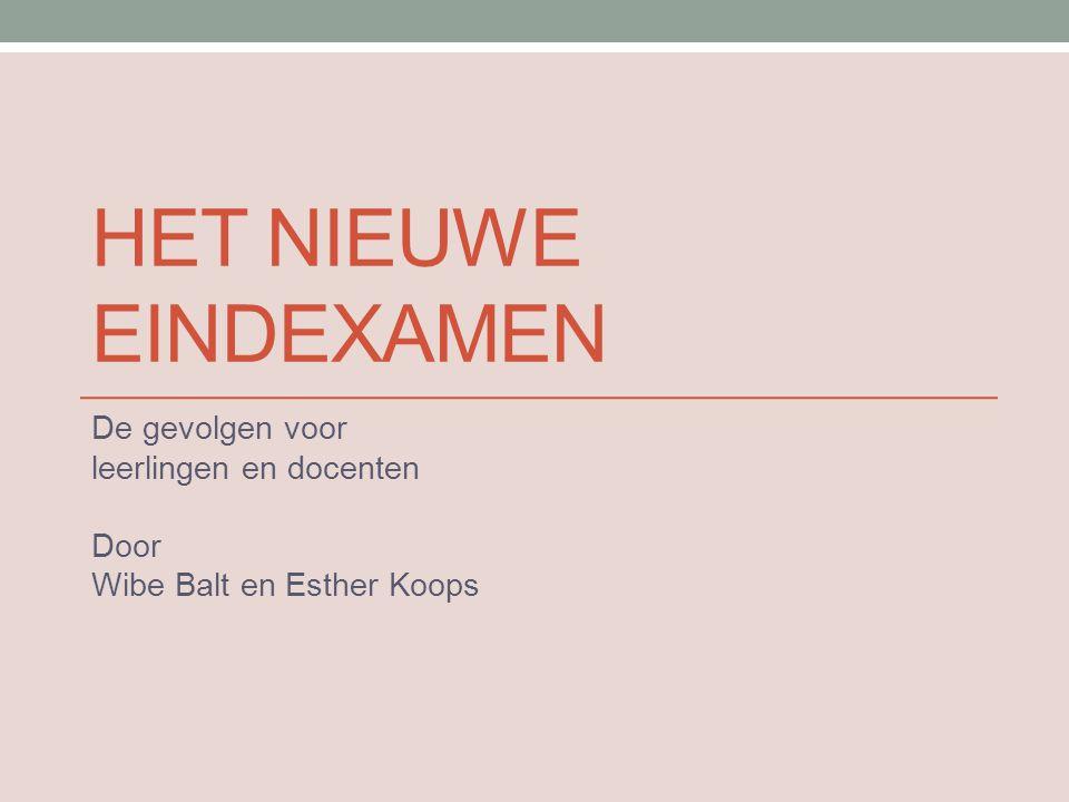 De gevolgen voor leerlingen en docenten Door Wibe Balt en Esther Koops
