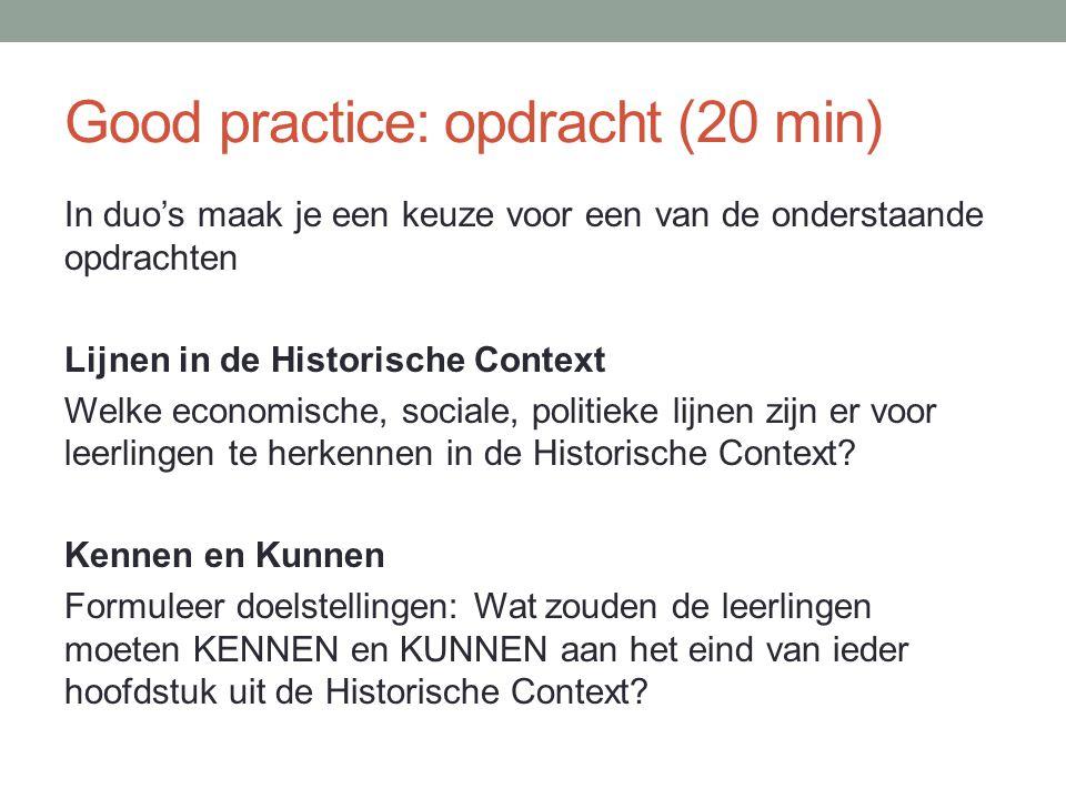 Good practice: opdracht (20 min)