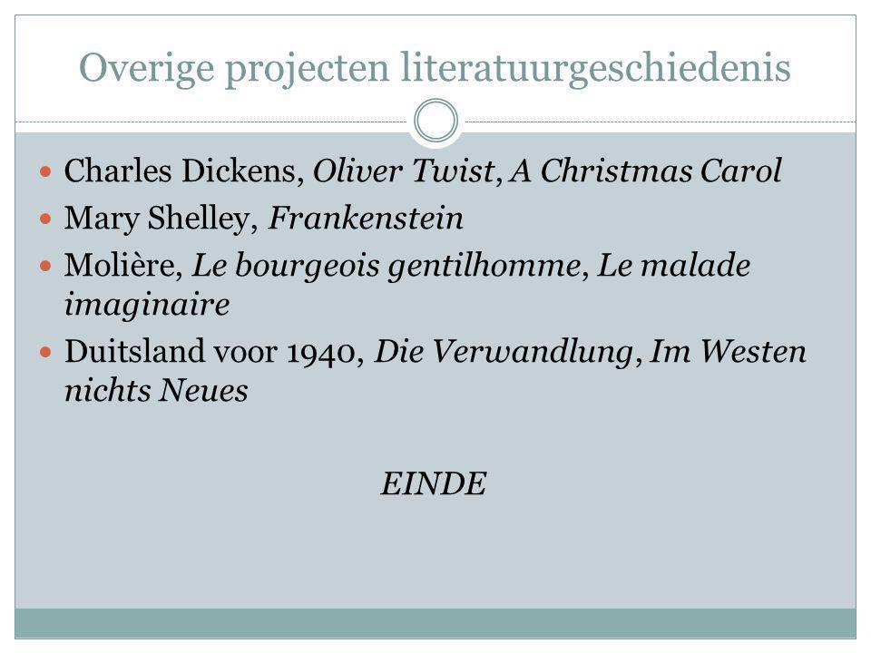 Overige projecten literatuurgeschiedenis