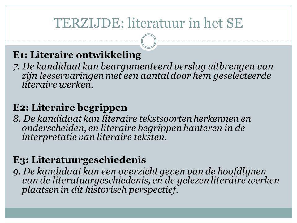 TERZIJDE: literatuur in het SE
