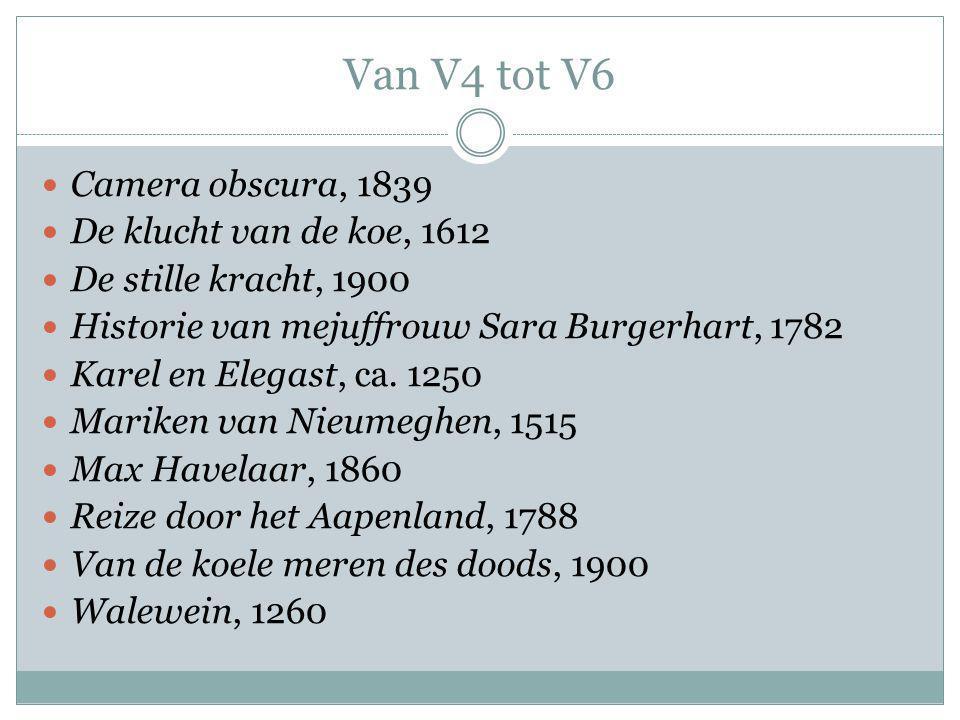 Van V4 tot V6 Camera obscura, 1839 De klucht van de koe, 1612