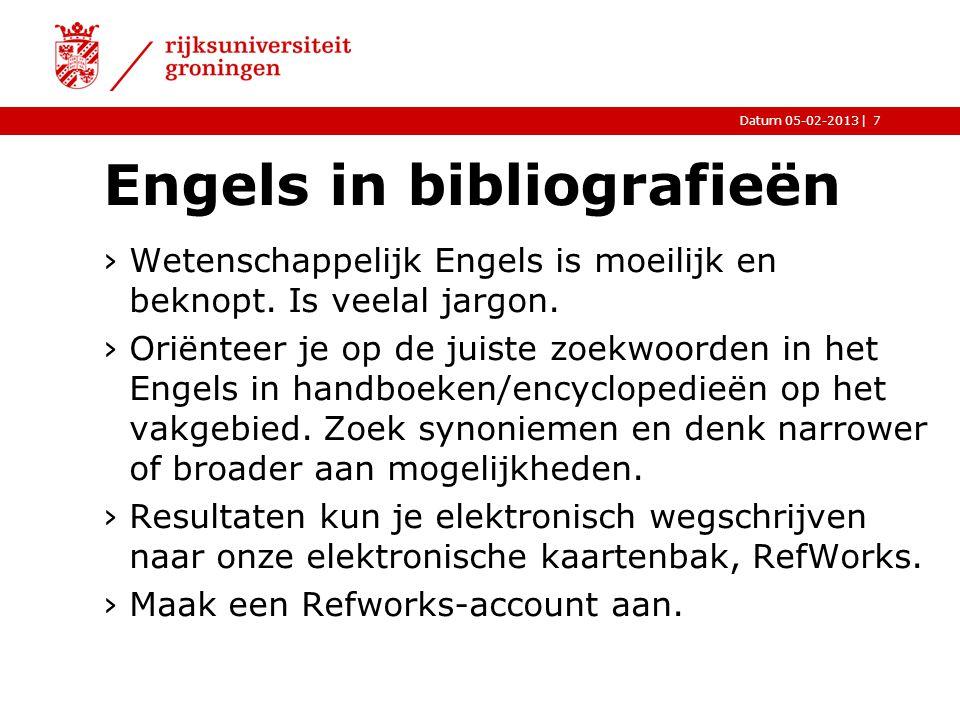 Engels in bibliografieën