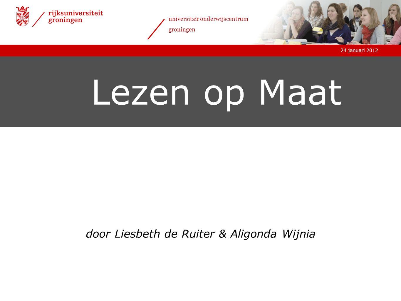 door Liesbeth de Ruiter & Aligonda Wijnia