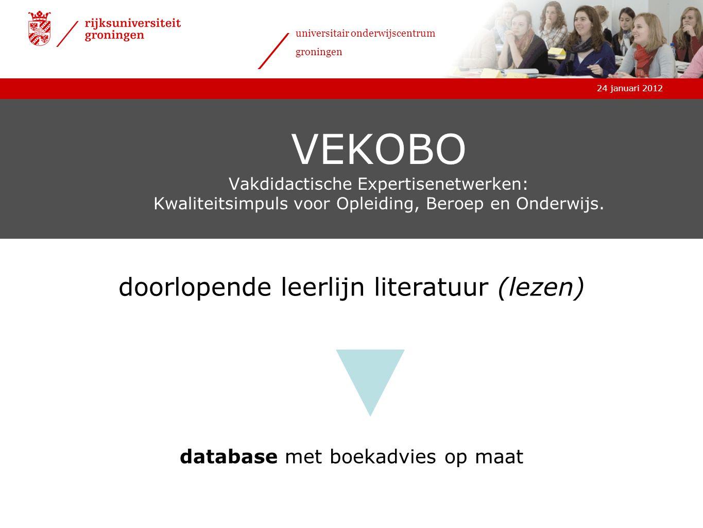 VEKOBO Vakdidactische Expertisenetwerken: Kwaliteitsimpuls voor Opleiding, Beroep en Onderwijs.