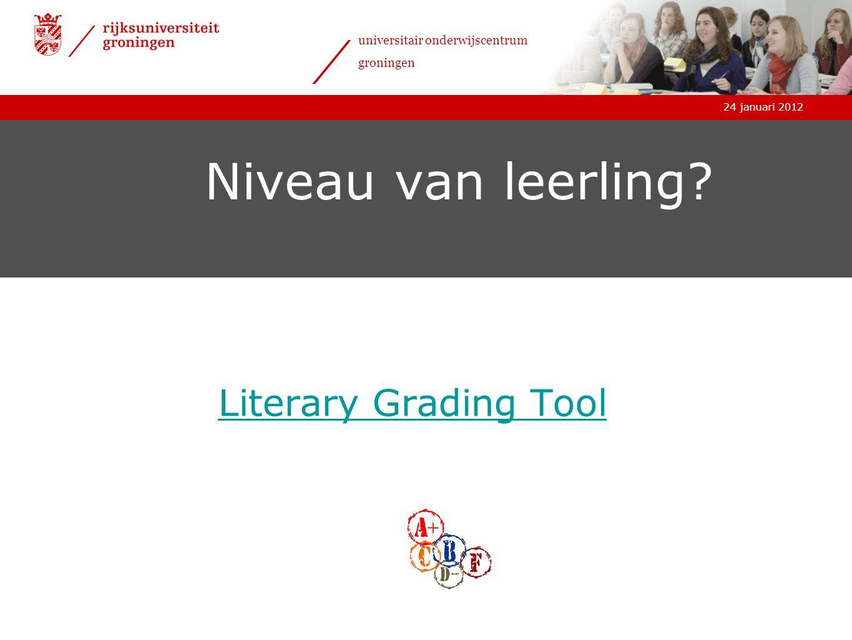 Niveau van leerling Literary Grading Tool