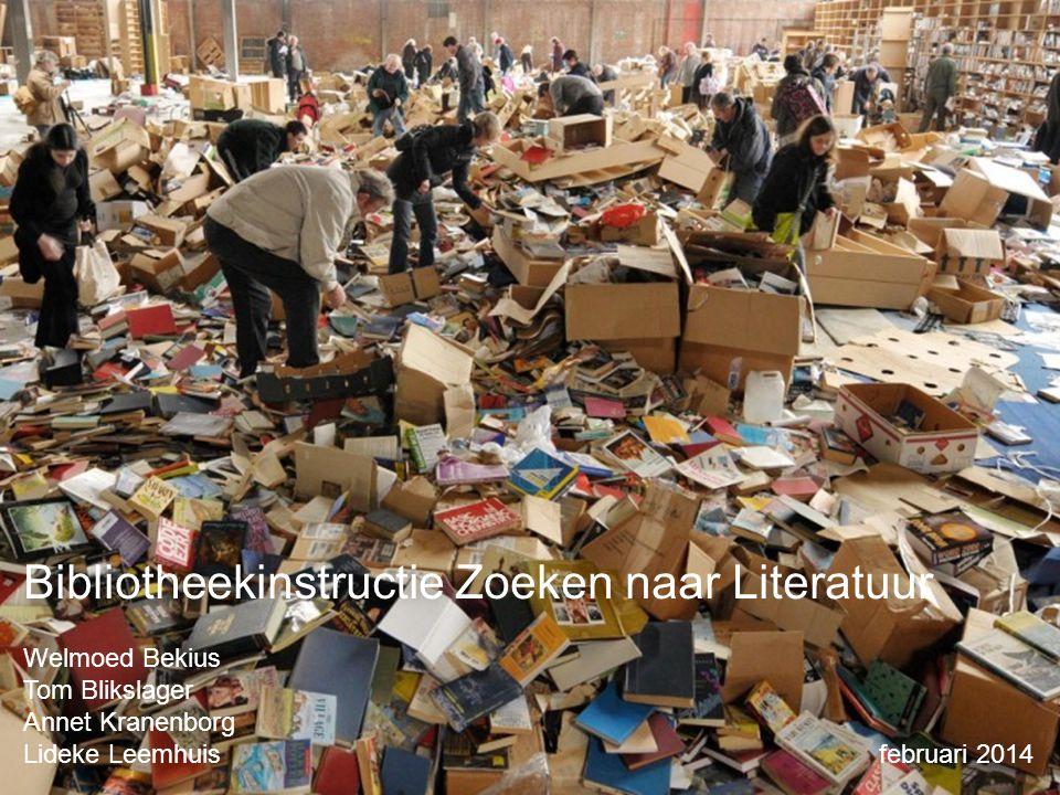 Bibliotheekinstructie Zoeken naar Literatuur